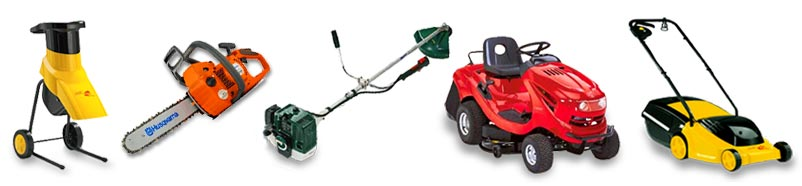 various garden machines